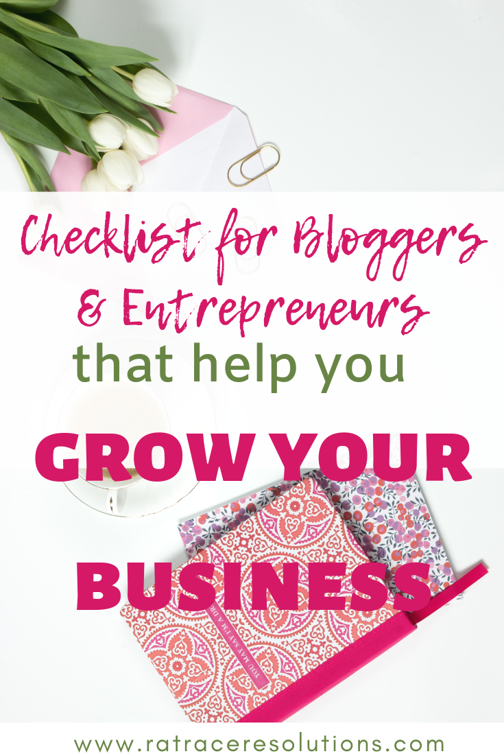 checklists for bloggers and entrepreneurs
