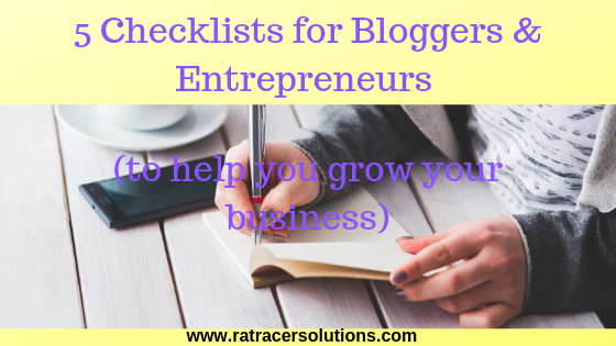 checklists for bloggers and entrepreneurs to grow your business