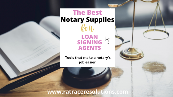 supplies for notary signing agents